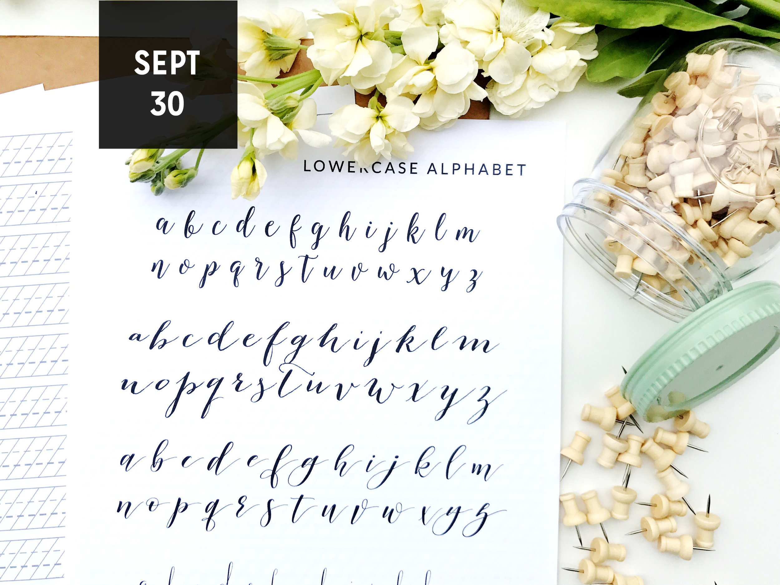 Join us on September 30th, 2017 with Kelly McGraw, of Pink Champagne Paper, for the Intro to Modern Calligraphy Workshop in Austin, Texas