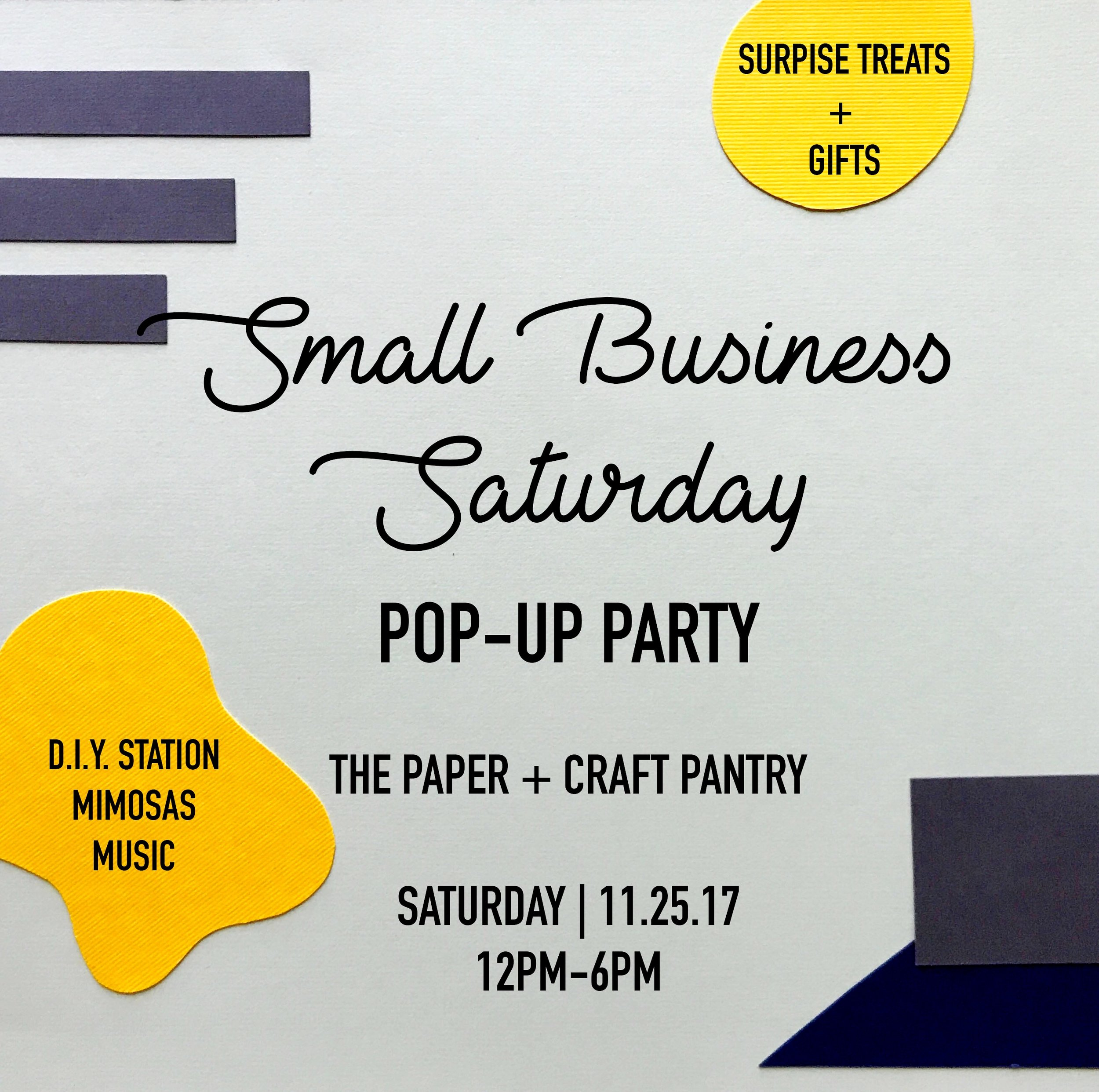 2017 Small Business Saturday Pop Up Market- Community Event