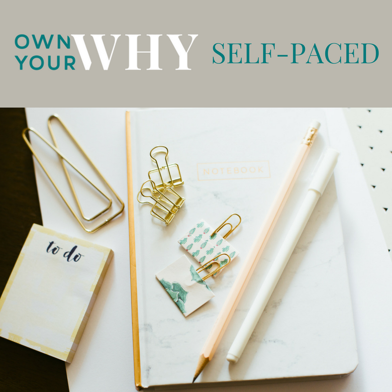 The Paper + Craft Pantry Holiday Gifting List: Own Your Why Self Paced Course.