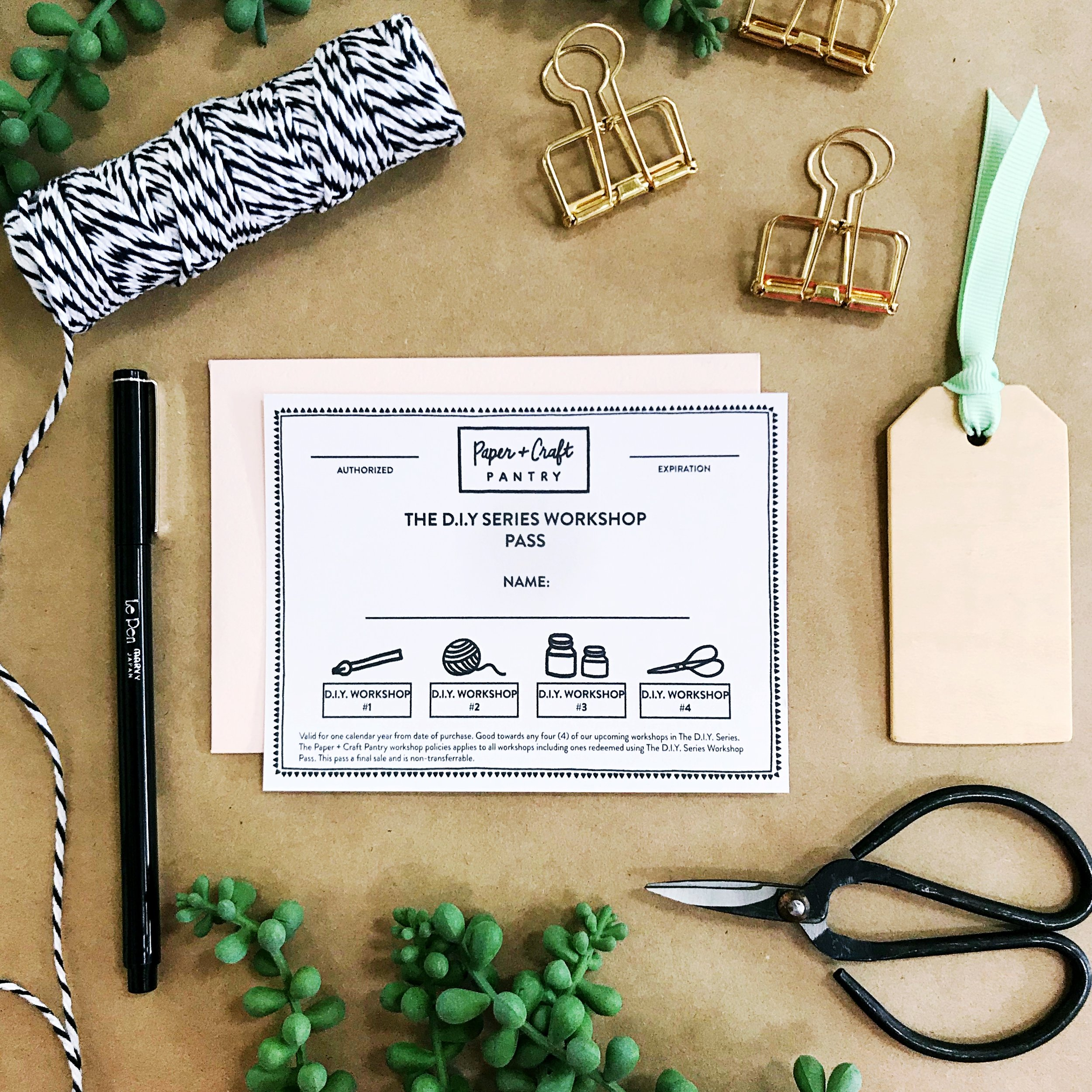 The Paper + Craft Pantry New D.I.Y. Series Workshop Pass- Top Holiday Gift 2017