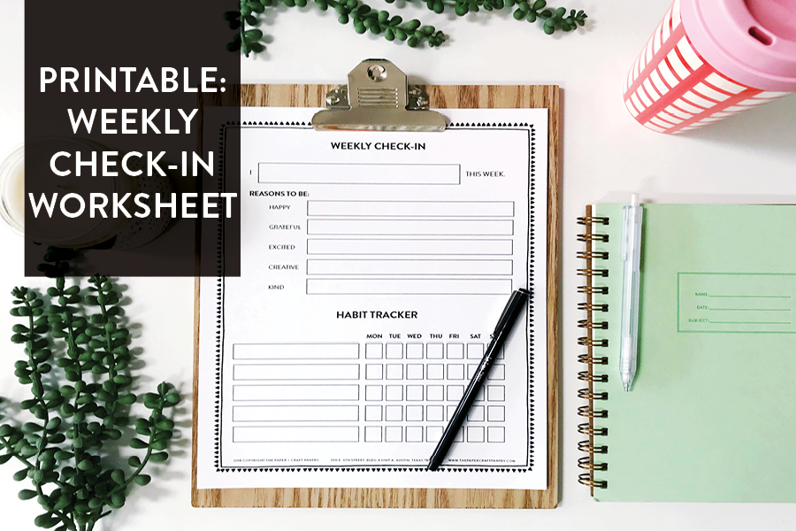 Paper Craft Pantry 2018 Printable Worksheet for Small Business + Every Day
