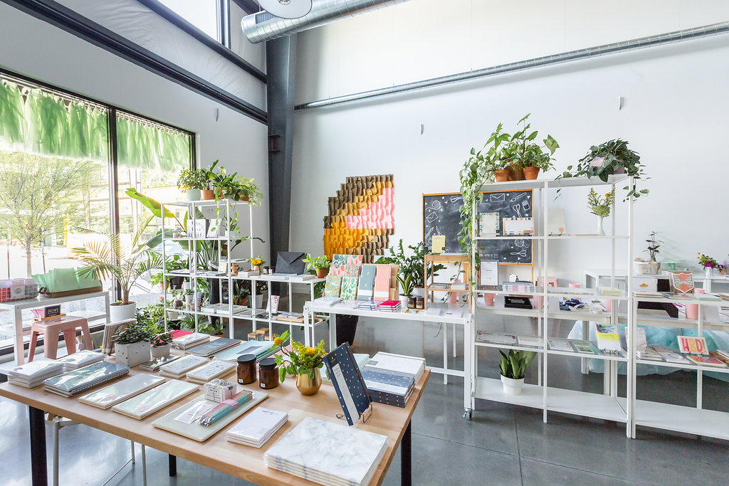 The Paper + Craft Pantry's new retail shop + workshop studio location.