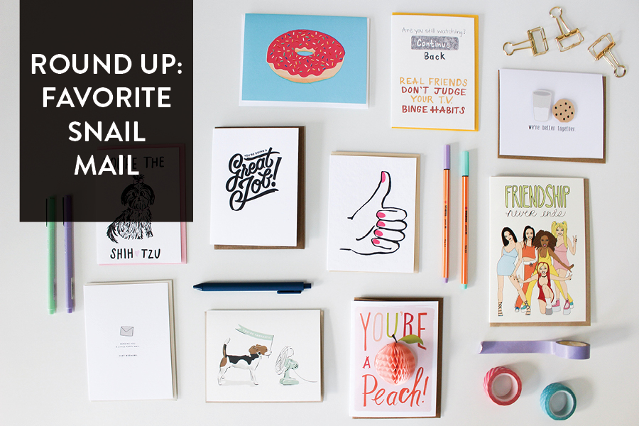 The Paper + Craft Pantry: All of our favorite cards to send to friends set out to display.