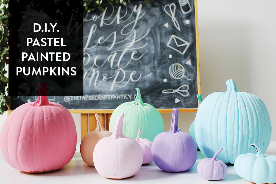 Paper Craft Pantry D.I.Y. Pastel Fall Pumpkins
