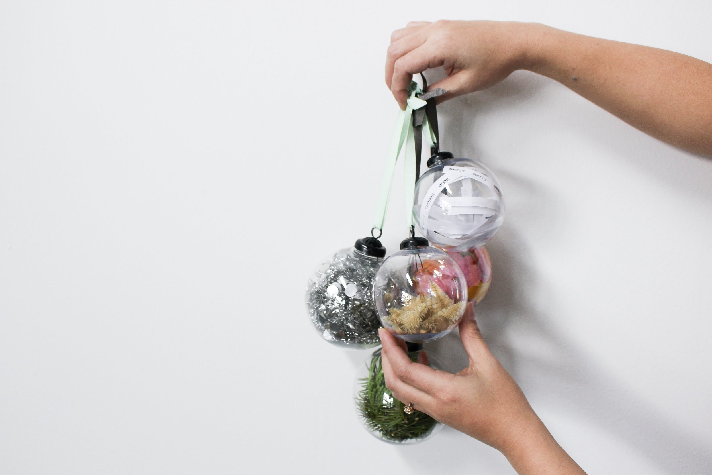 The Paper + Craft Pantry Blog: Holding all of our finished ornaments.