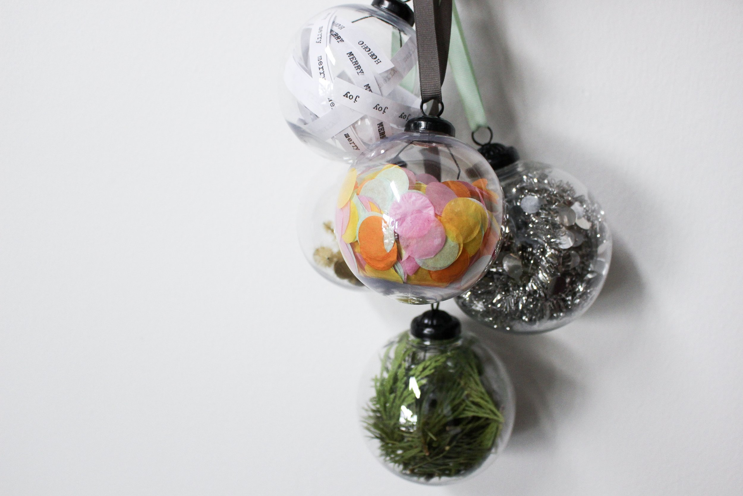 The Paper + Craft Pantry Blog: The finished product of our 5 simple D.I.Y. ornaments.