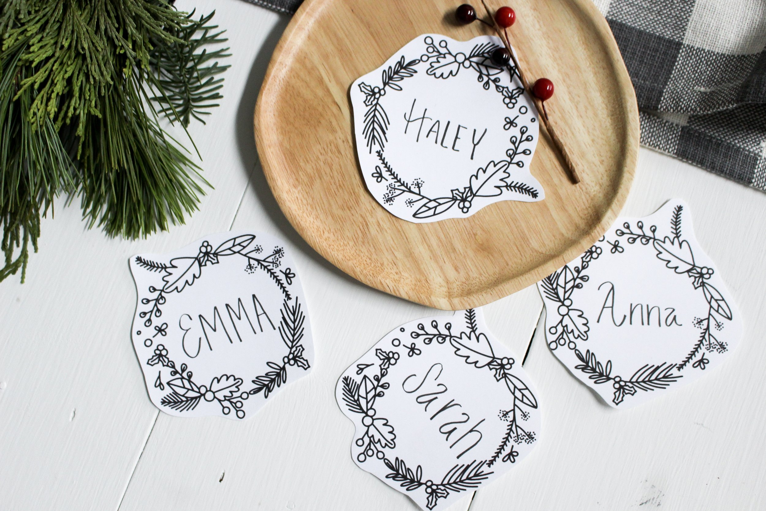 The Paper + Craft Pantry Blog: After being cut out we lettered and are using them as place cards!