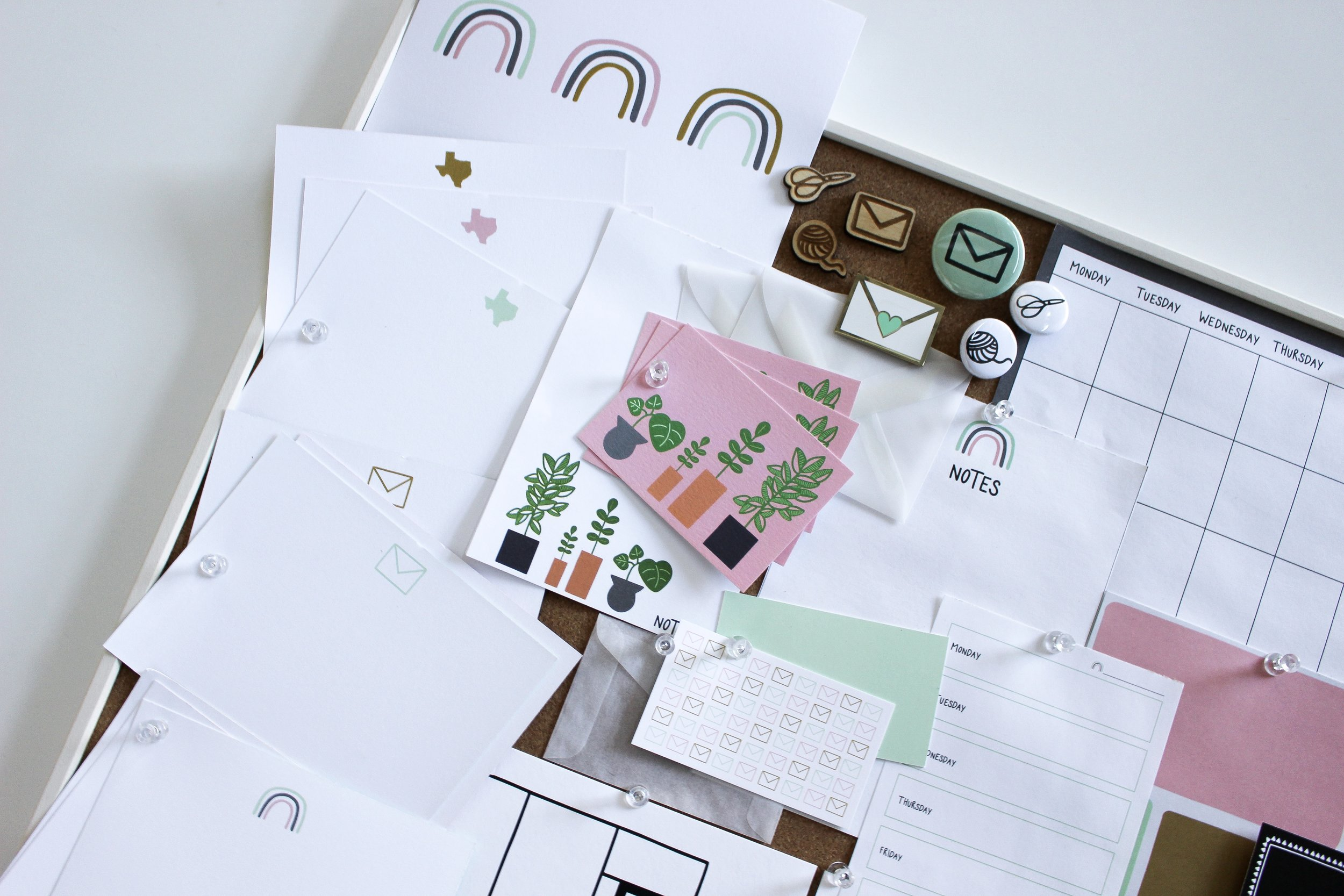 The Paper + Craft Pantry Blog: Zoomed in on a little corner of our inspiration board.