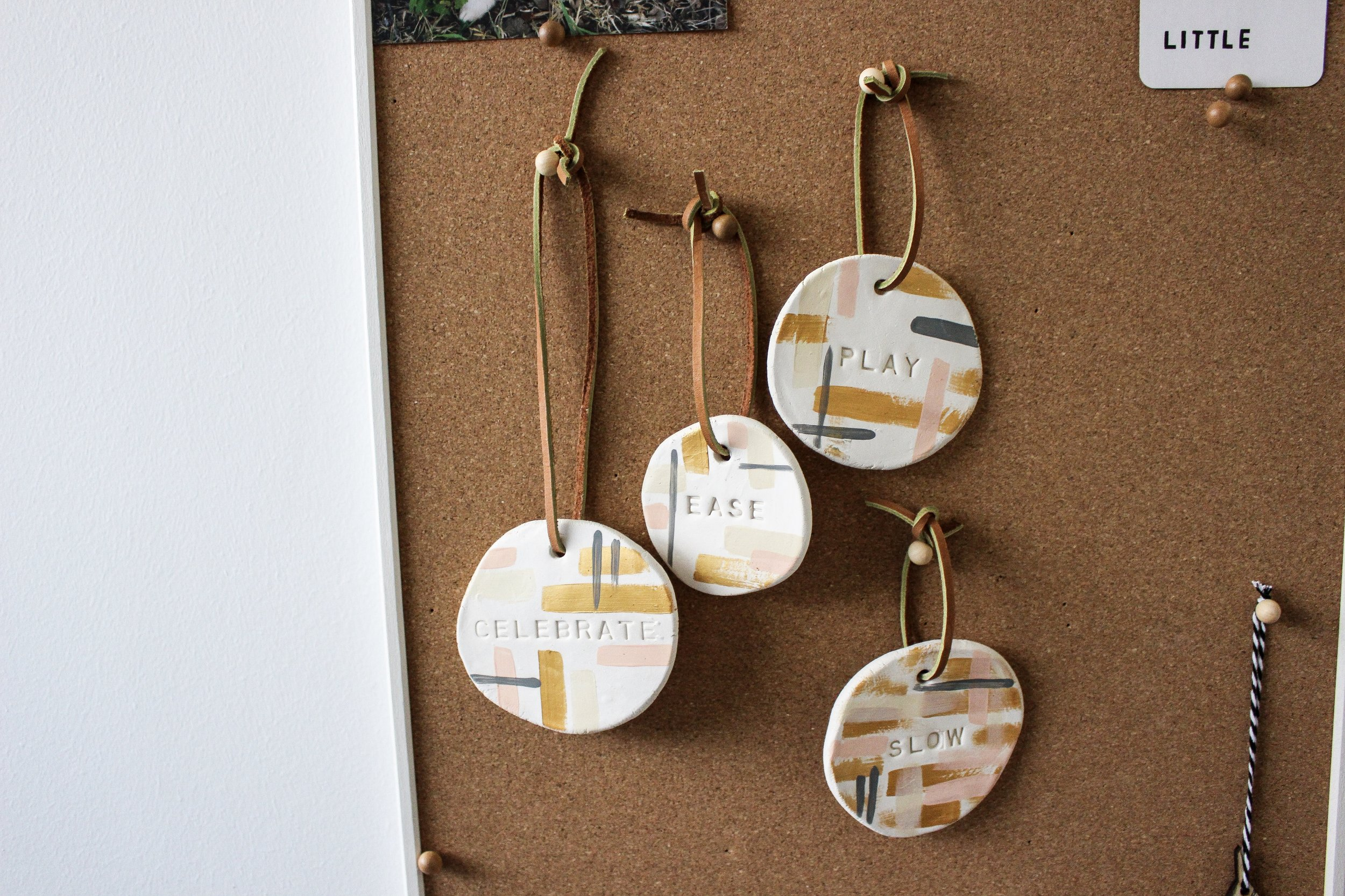 The Paper + Craft Pantry Blog: Wall clay art charm.