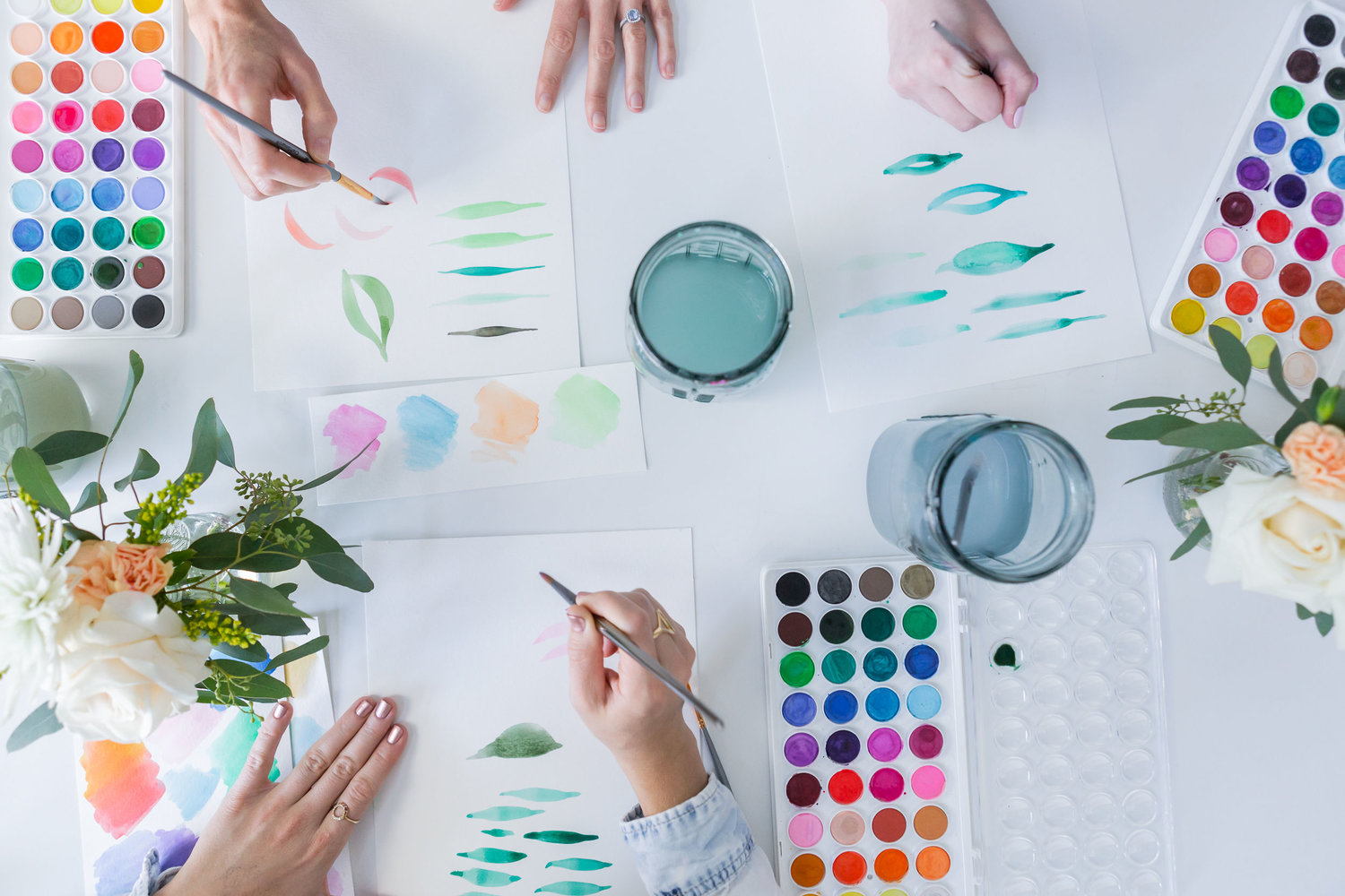 The Paper + Craft Pantry Blog: Watercolor floral workshop.