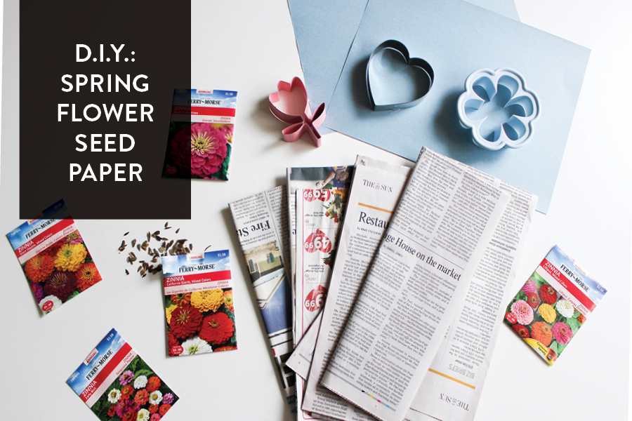 The Paper + Craft Pantry Blog: Spring Time Seed Flower Paper DIY