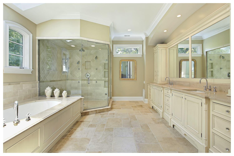 Elegant Twin Master Bathroom