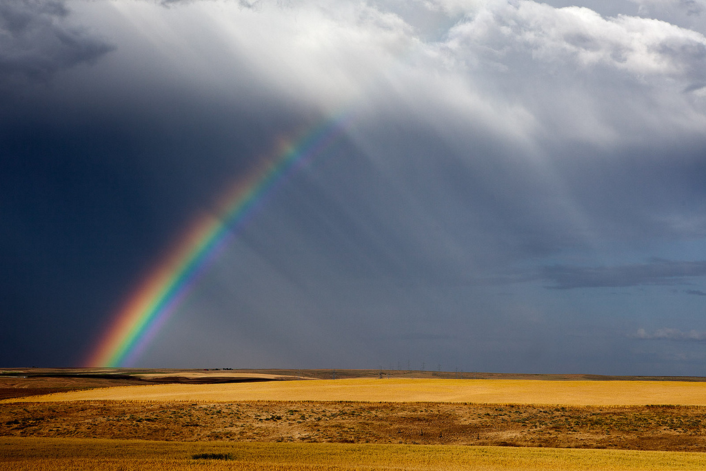 """"""" Rainbow at Oregon Raceway Park, Grass Valley, OR """" by  Curt Smith is licensed under  CC BY 2.0."""