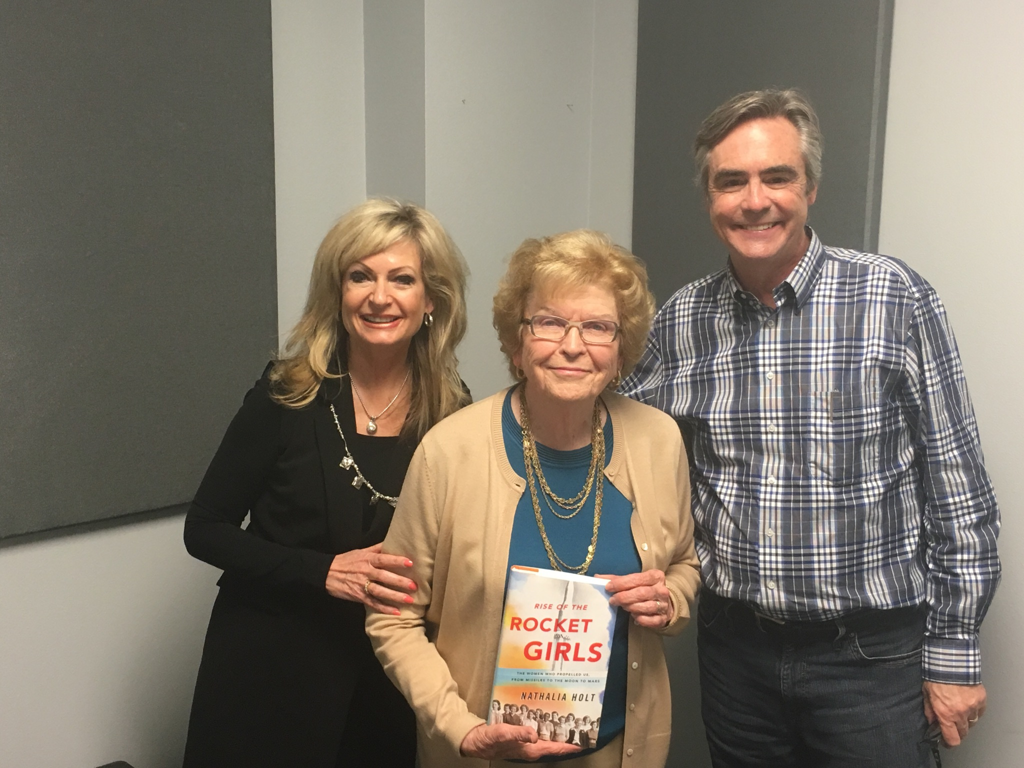 Gary and Barb with Barbara Paulson, one of the women featured in  Rise of the Rocket Girls.