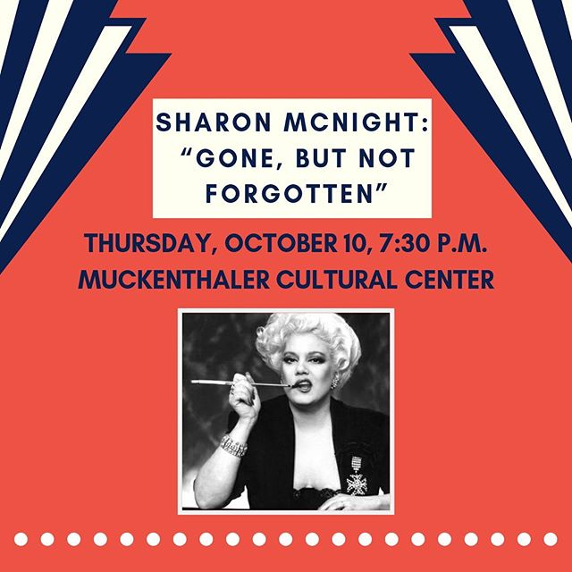 "A stellar voice, top-notch performance and big personality - Tony-nominee Sharon McNight is bringing it all to the Muck on Thursday, October 10. In ""Gone, But Not Forgotten"" she pays tribute to lady legends such as Patsy Cline and Aretha Franklin. 🎶 . . #sharonmcnight #fullertonmusic #ocmusic #muckenthaler #orangecountymusic #tonynominee #patsycline #arethafranklin #arethafranklintribute #fullertonmusic"