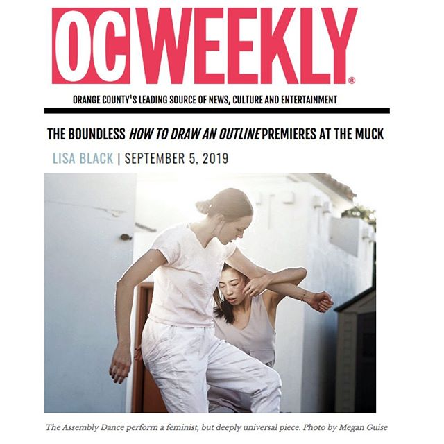 "The Assembly's premiere of ""How to Draw an Outline"" is already next week!  Read about the behind the scenes development and rehearsal of their performance in Lisa Black's article for @ocweekly  #theassembly #theassemblydance #muckenthaler #dance #orangecountydance #losangelesdance #ocweekly #choreography"