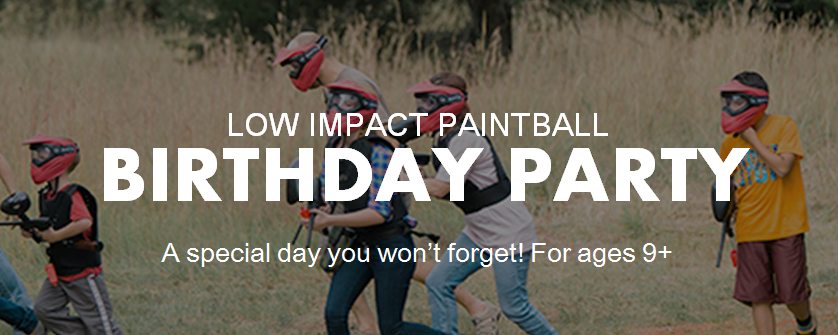 Low Impact Paintball Birthday Party