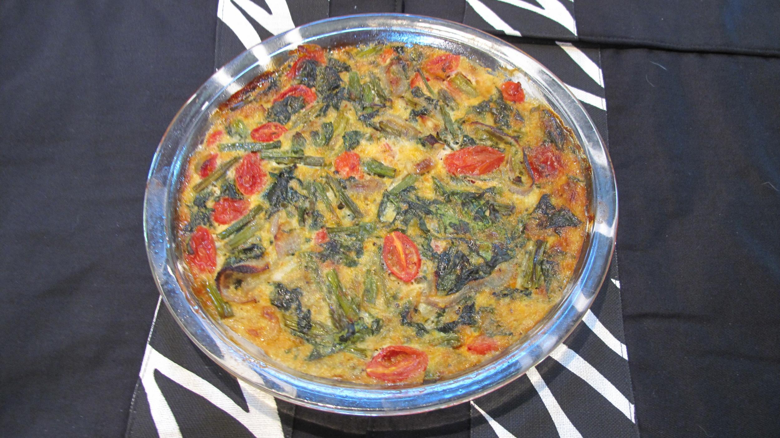 Veggie Crustless Quiche