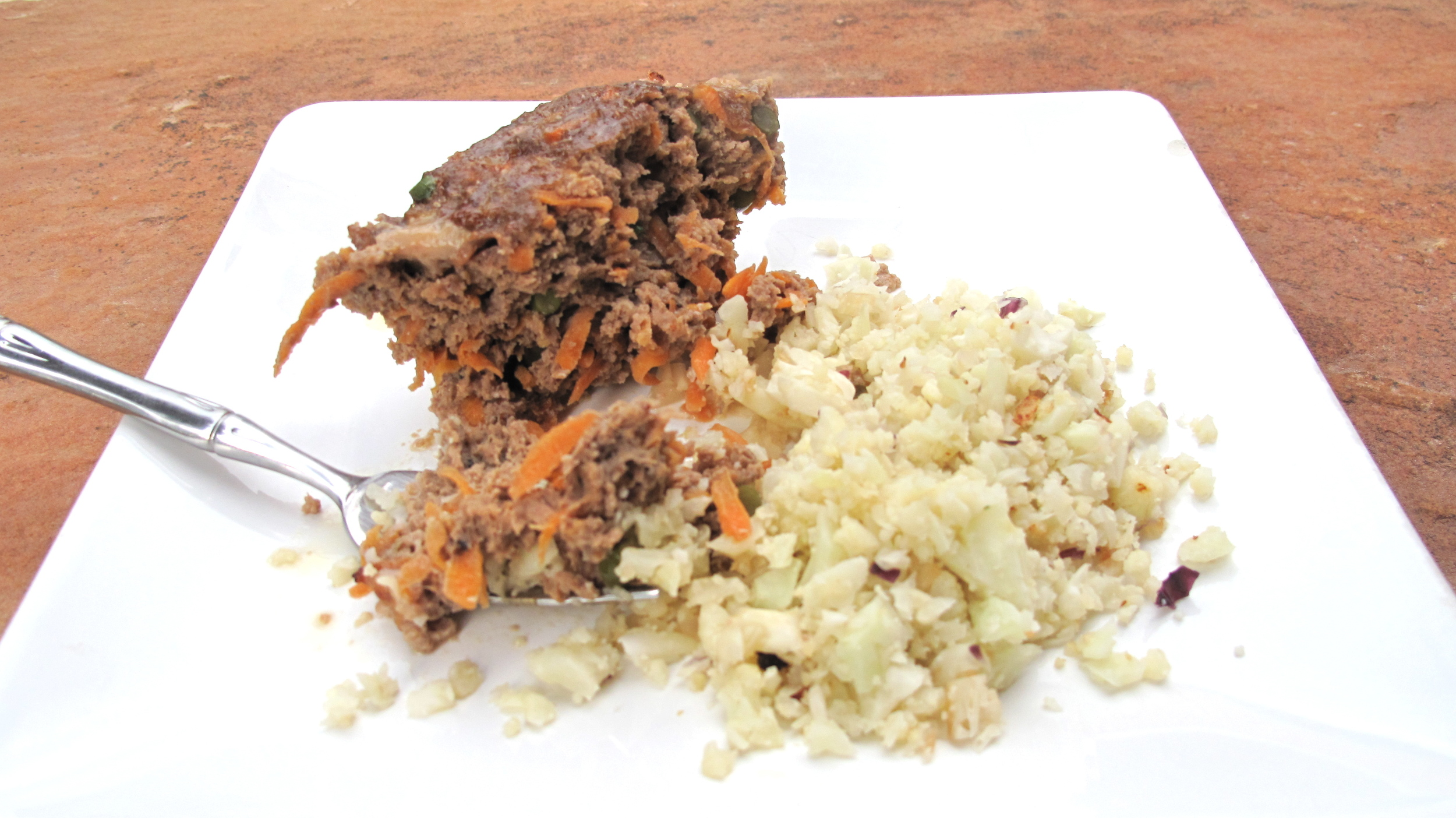 This high-protein and low glycemic carb meal is a delicious alternative to the previous incarnation of ketchup-drenched meat loaf and mashed taters.