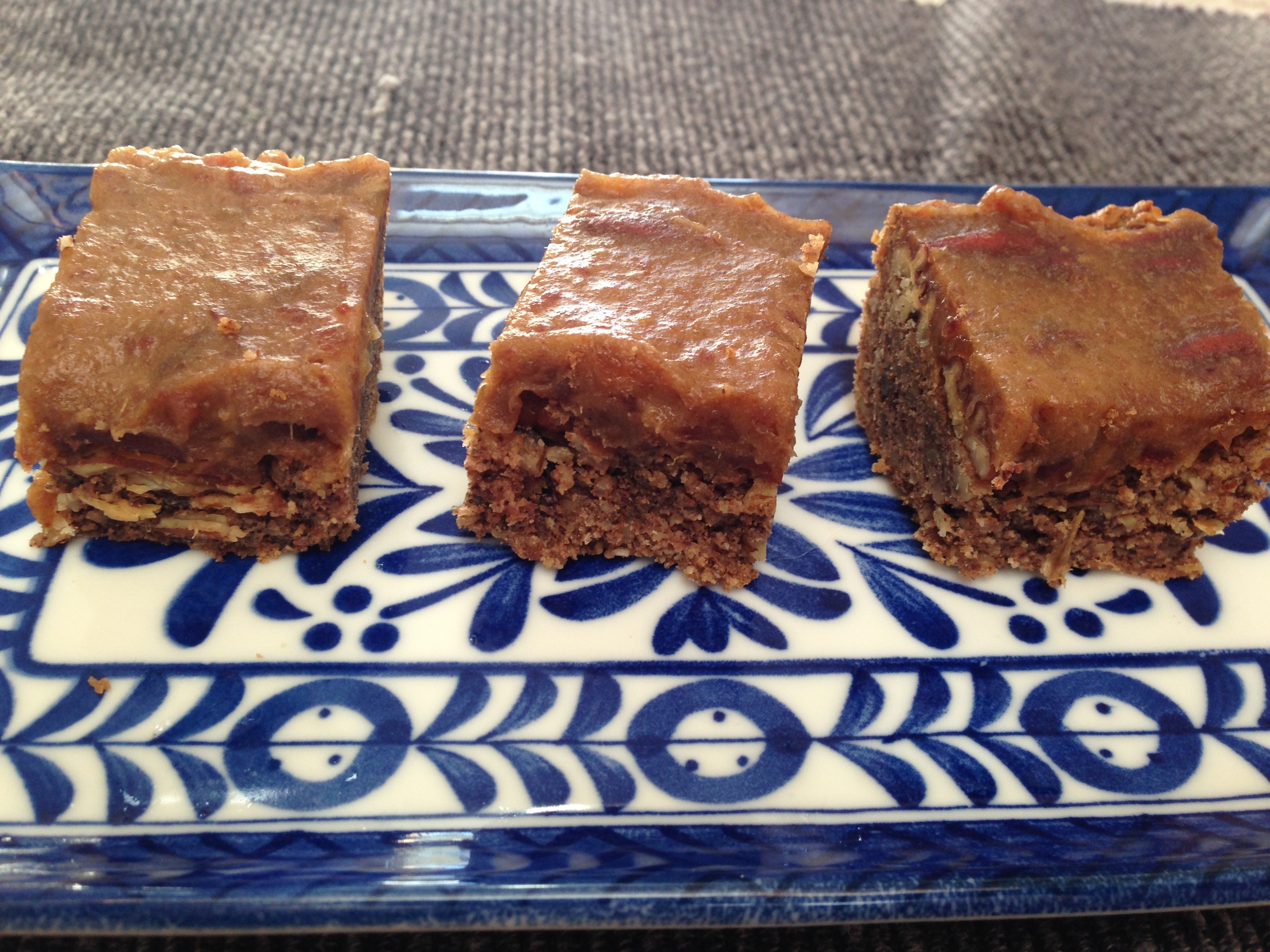These pecan bars are sort of ridiculously delicious. Perfect for parties, or when you just have a sweet tooth. Thank you  PaleOMG  for the inspiration!