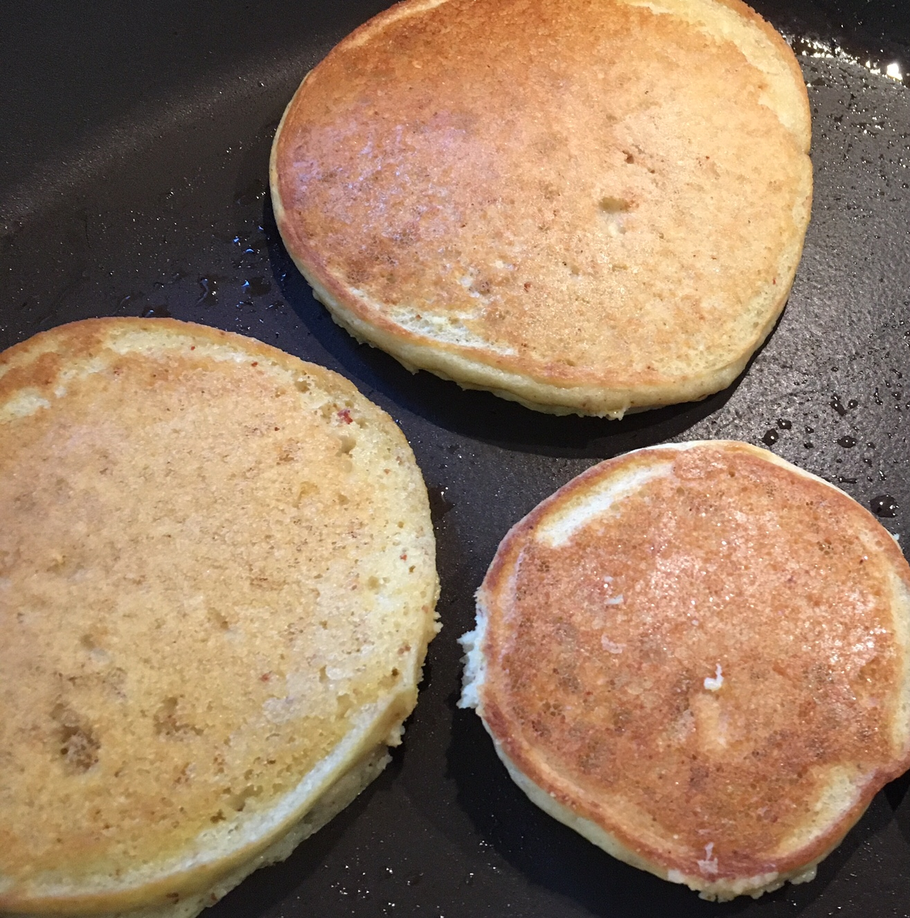 My little guy (and husband...ok, and me too...) have been on a pancake jag lately. This recipe yields a great tasting, beautifully textured pancake. The recipe can be halfed if you only want a couple pancakes, but why bother! Just freeze the excess pancakes if you have too many. Enjoy!