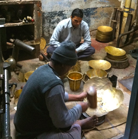 Artisans making handmade products