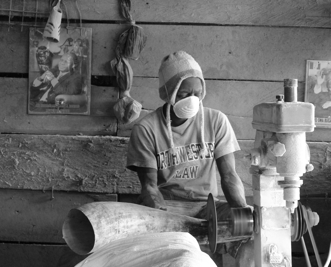 Artisan handcrafting horn products