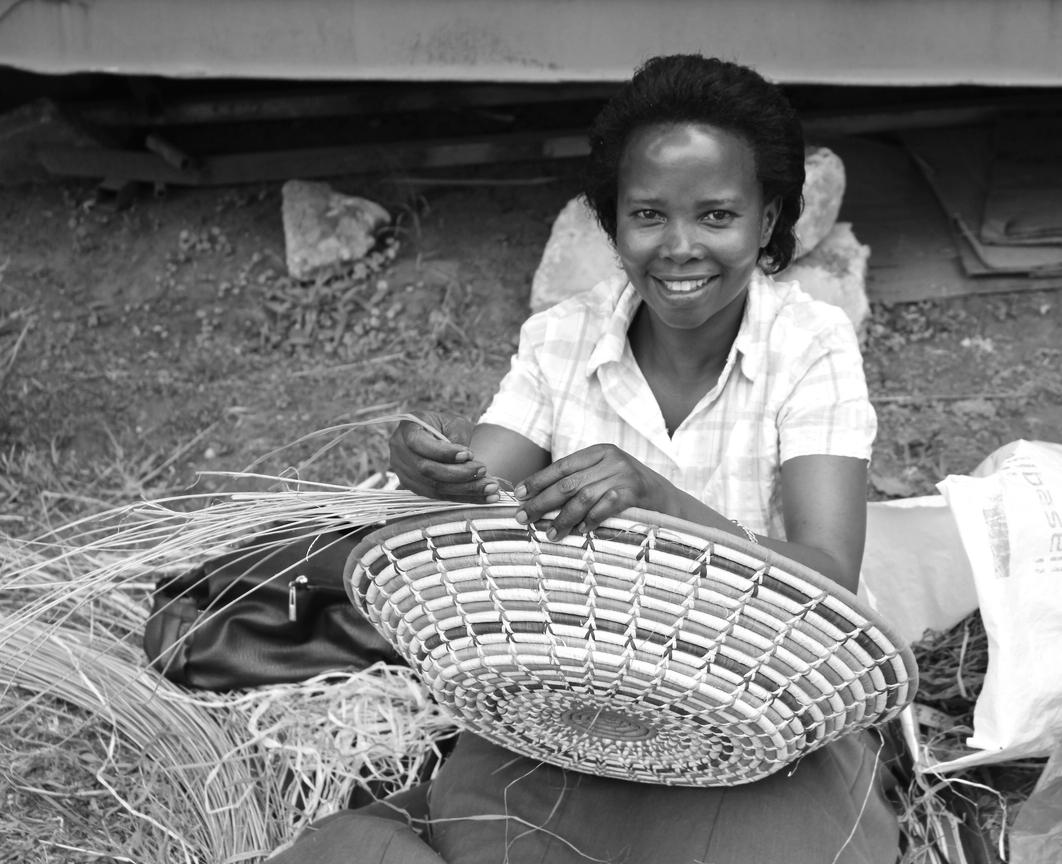 Basket weaving artisan