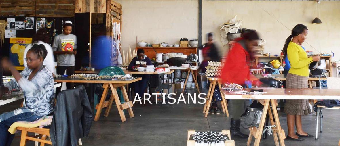Swaziland artisans hand making sustainable jewellery