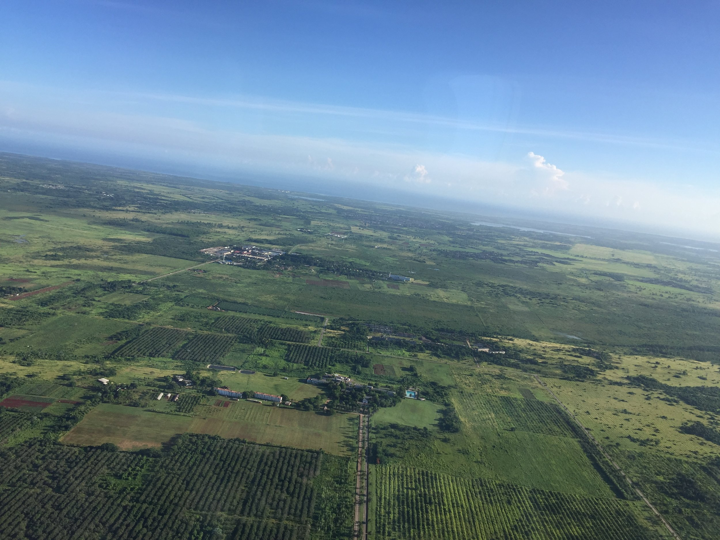 Flying into Havana