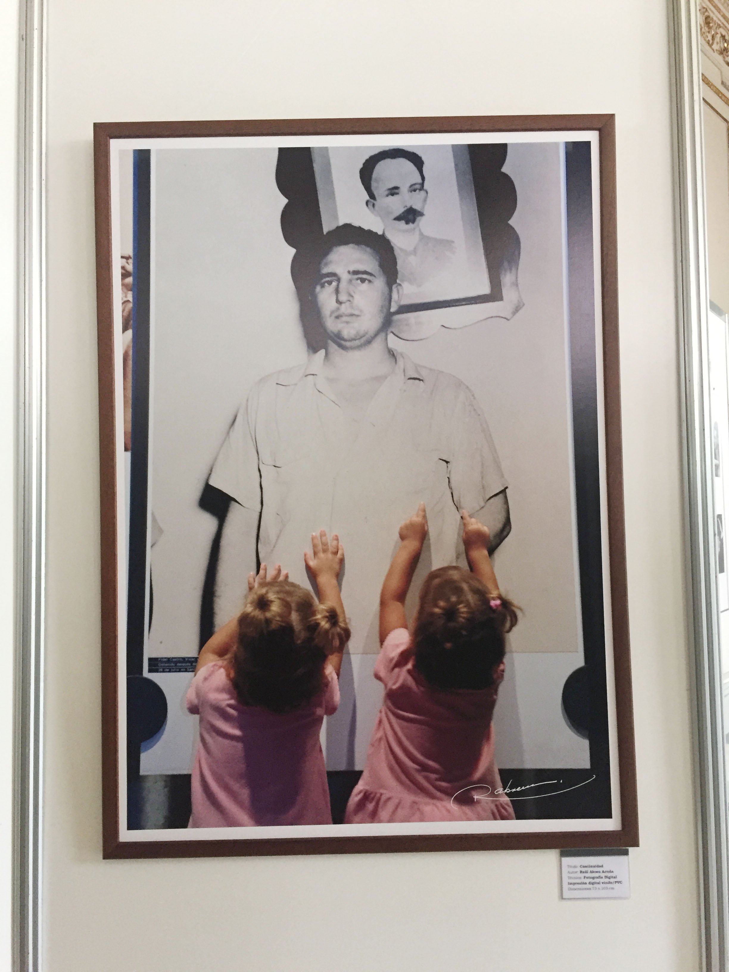 FIdel Castro, José Martí, and twin toddlers. BAM!