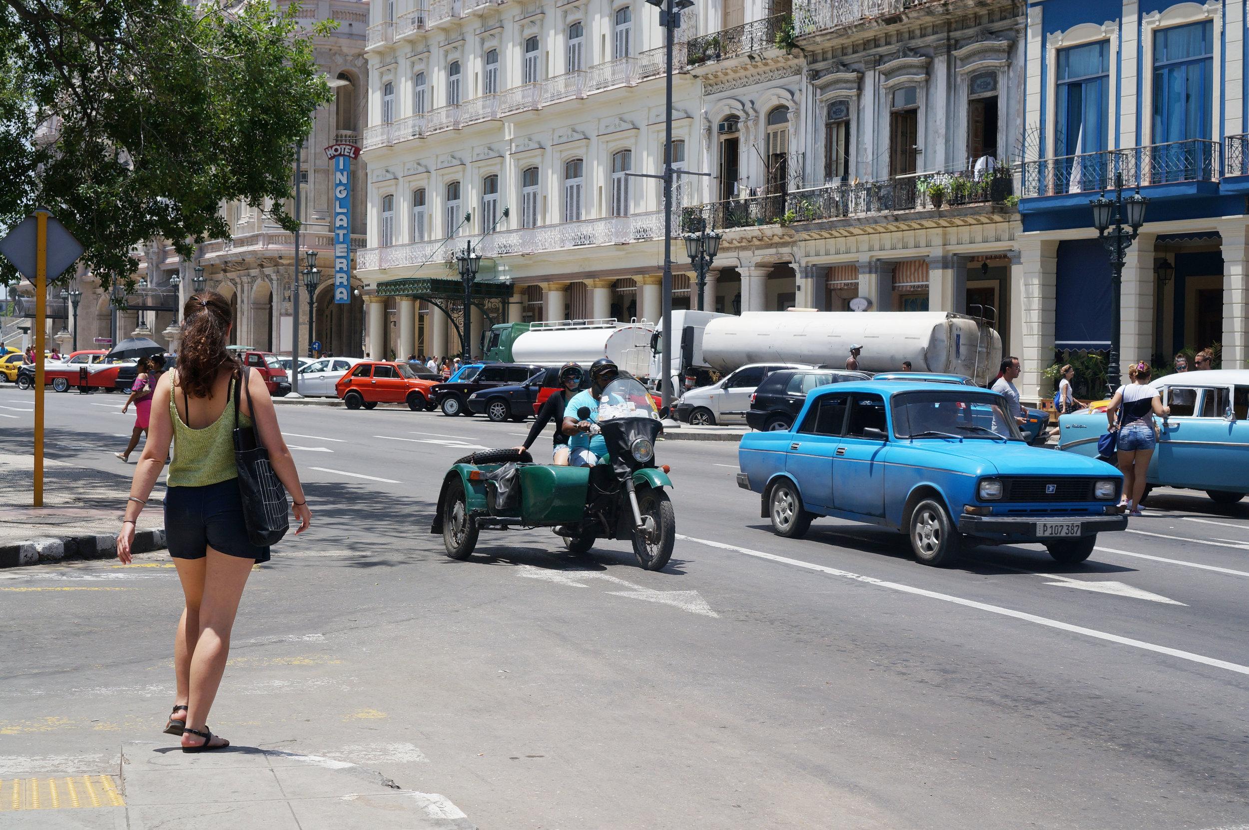 Driving along side the Prado