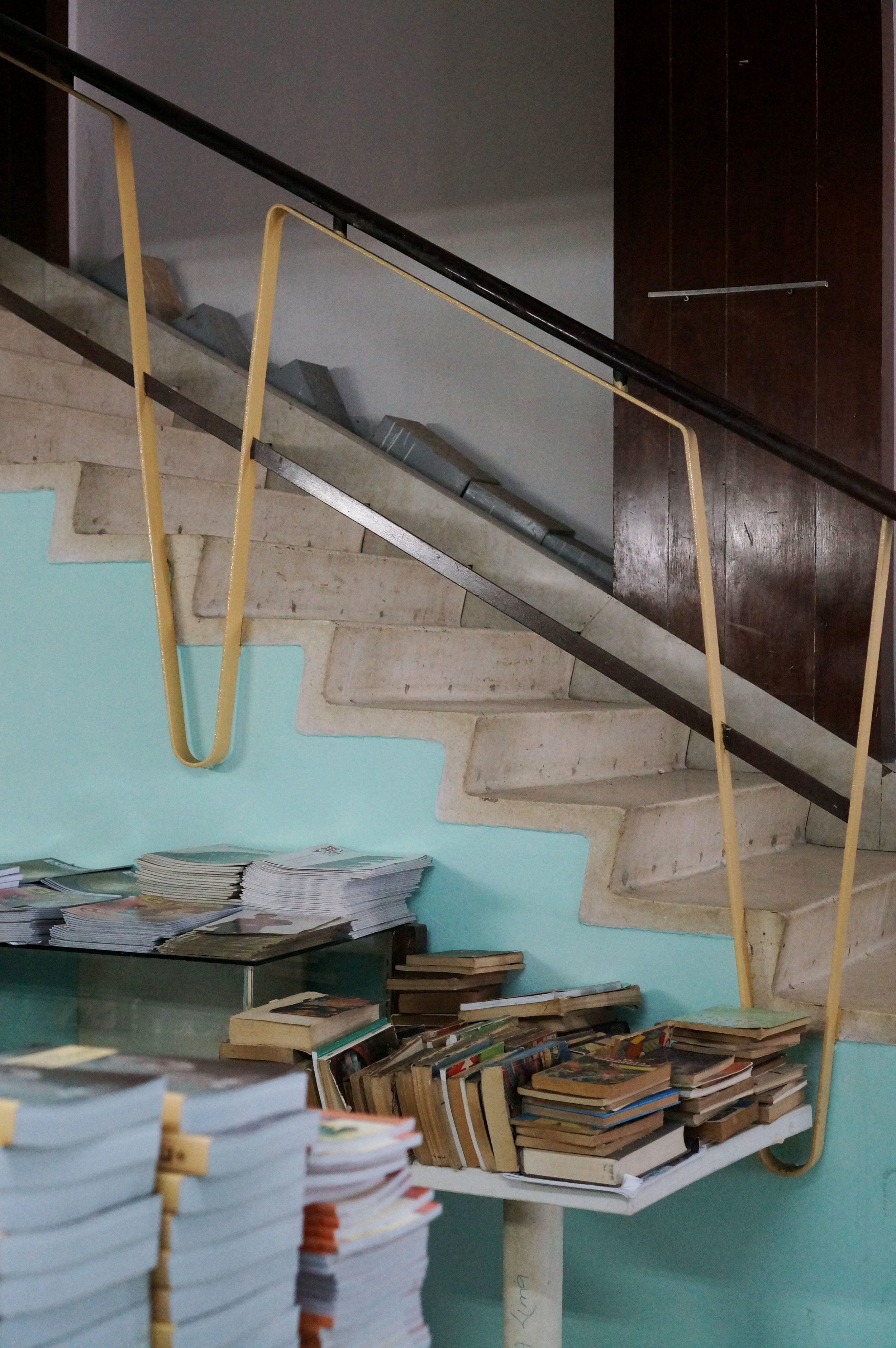 Mid-century details in a bookstore