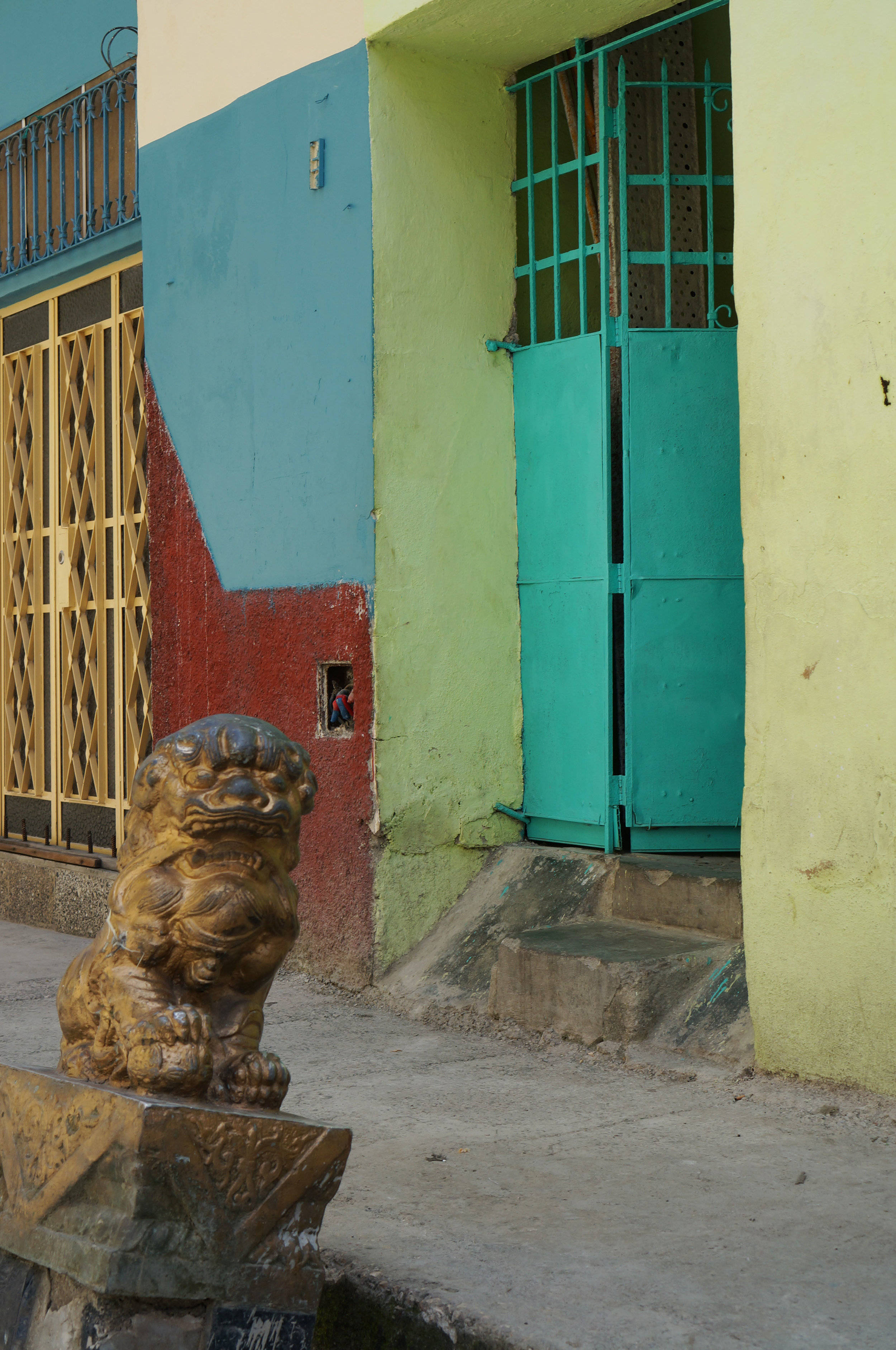 Guarding the calle into Havana'a Chinatown