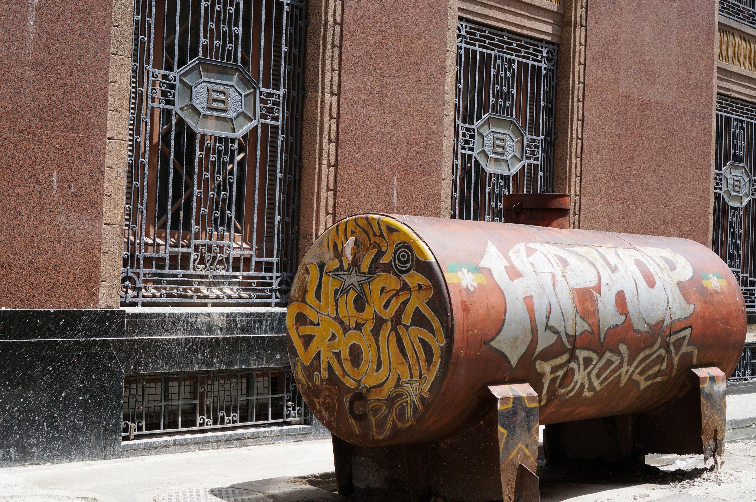 """Hip Hop Forever - Under Ground"" seen outside the BacardíBuilding"