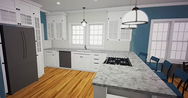 Another METRO R3 kitchen revitalization Concept Design. Transforming vintage homes into classic, current and period appropriate ones throughout Southeastern WI.