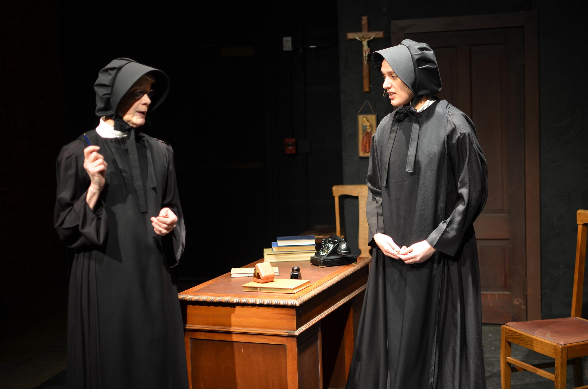 Margaret Mann (Sister Aloysius), Mallory Pellegrino (Sister James)