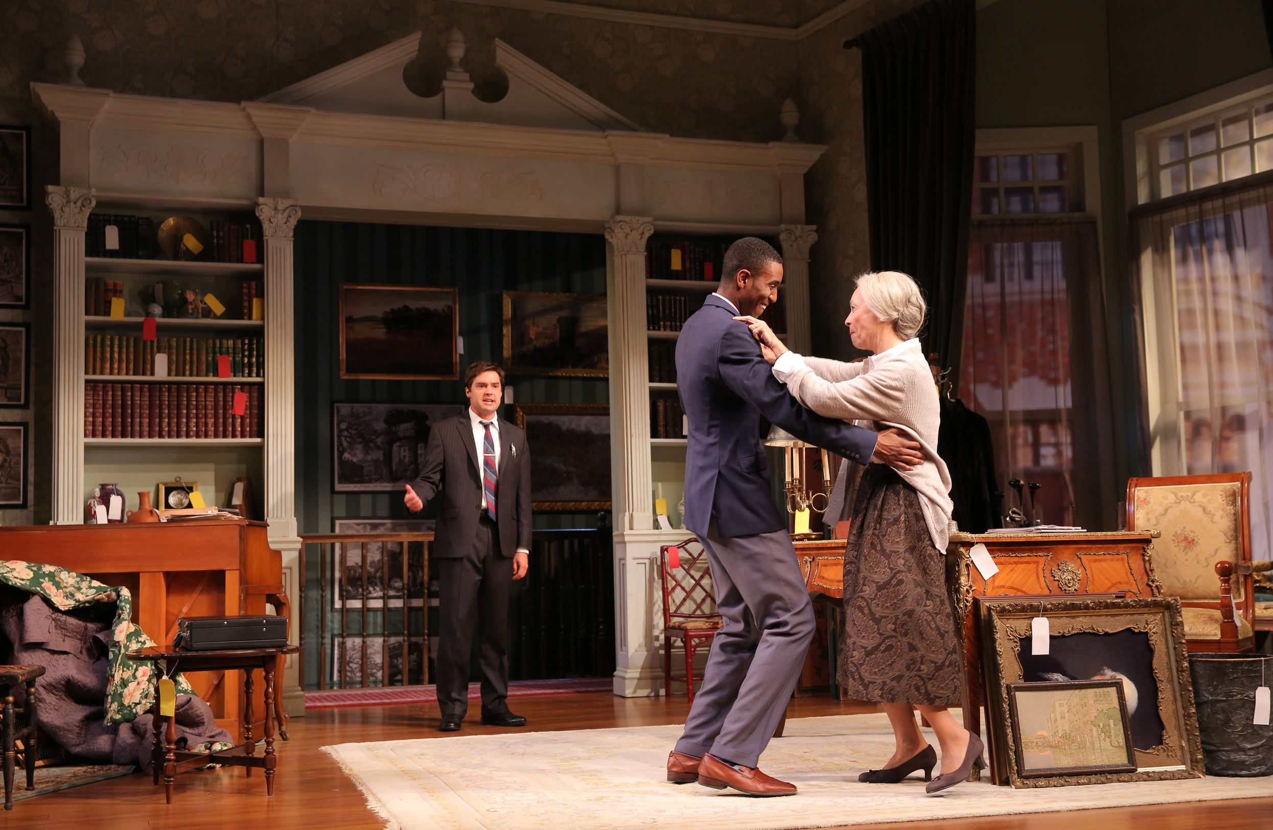 Joe Paulik (Harvey Abel), Gabriel Brown (Walker Williams), Maureen Anderman (Cornelia Cunningham); photo by Joan Marcus