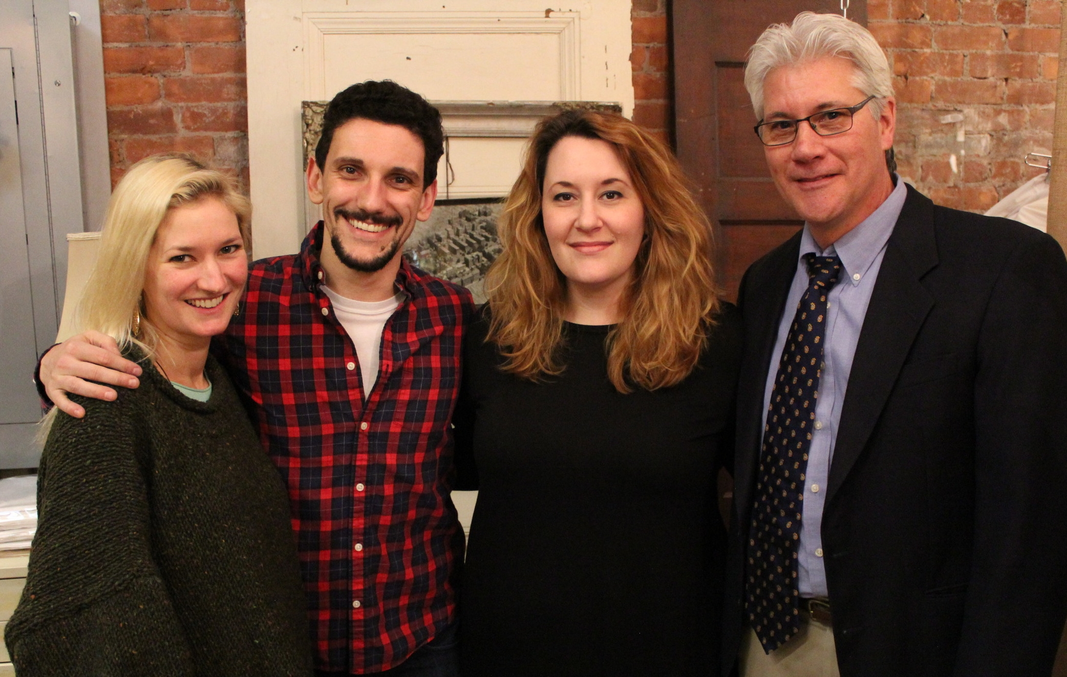 The cast of Proof: Megan Keith Chenot, Christian Shaboo, Deena Nicol-Blifford, George Kulp
