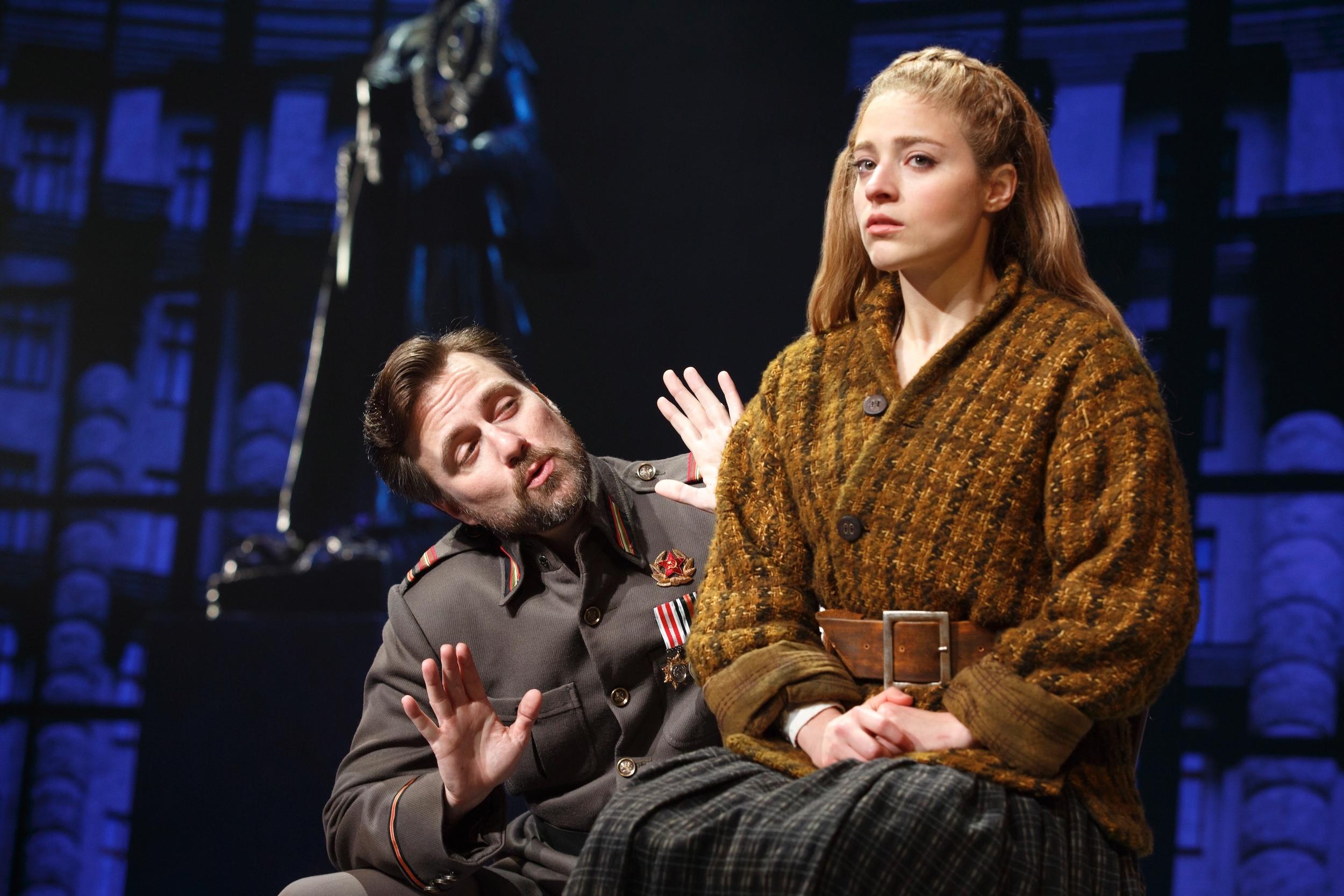 Gleb (Manoel Felciano) and Anya (Christy Altomare) (photo: Joan Marcus)