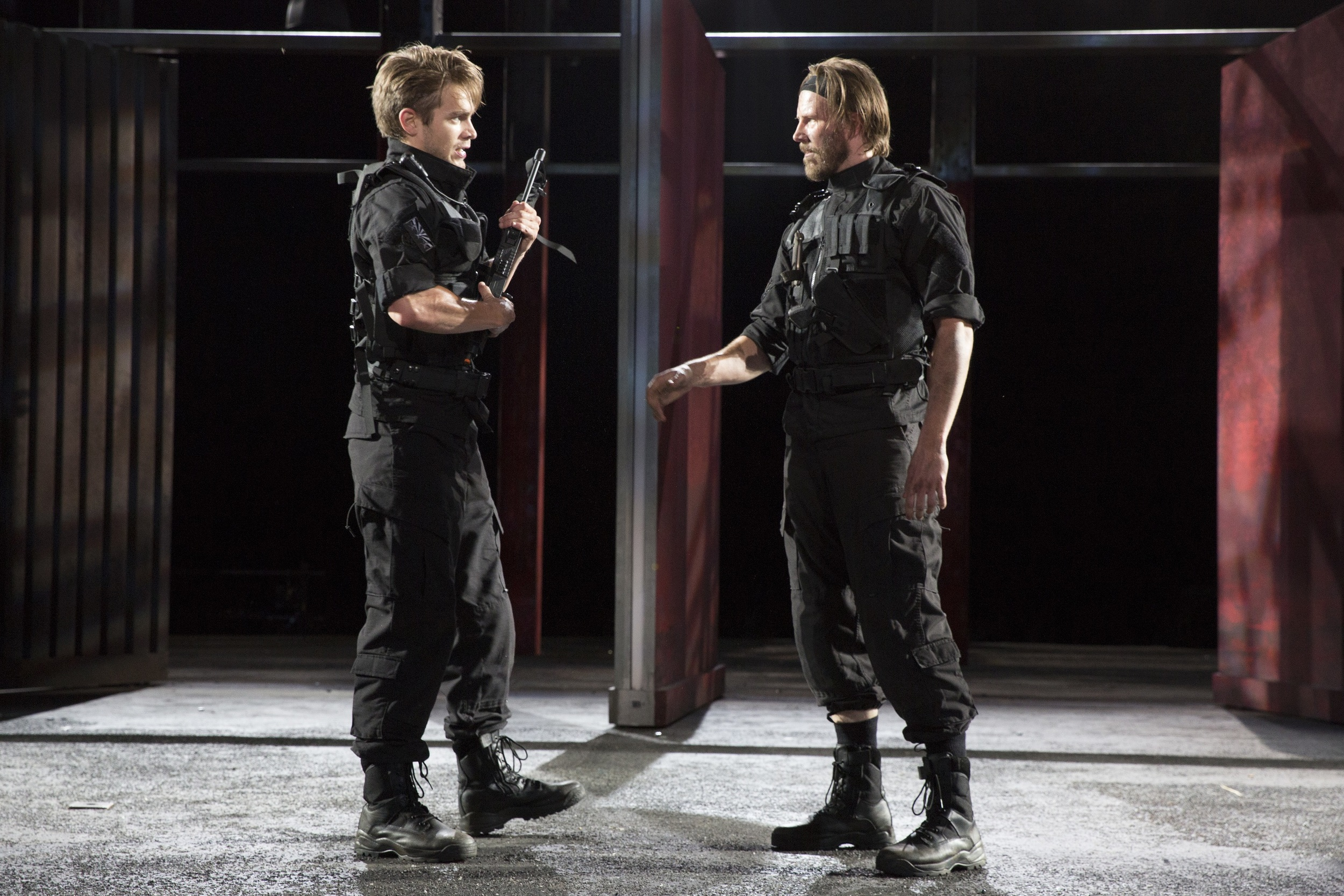 Brothers-in-arms: Troilus (Andrew Burnap), Hector (Bill Heck)
