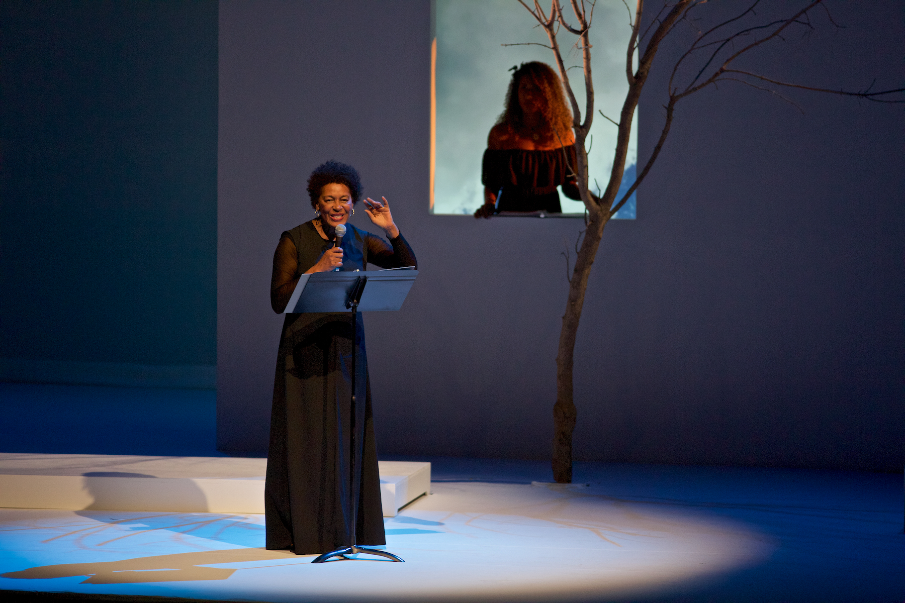 Carrie Mae Weems (Artist), Aja Monet (Poet) (photo: William Struhs)