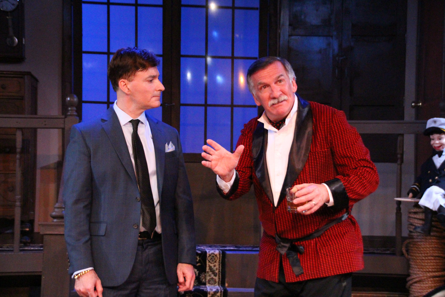 Milo (David Brickman), Andrew (John Little) (photo: Joe Landry)