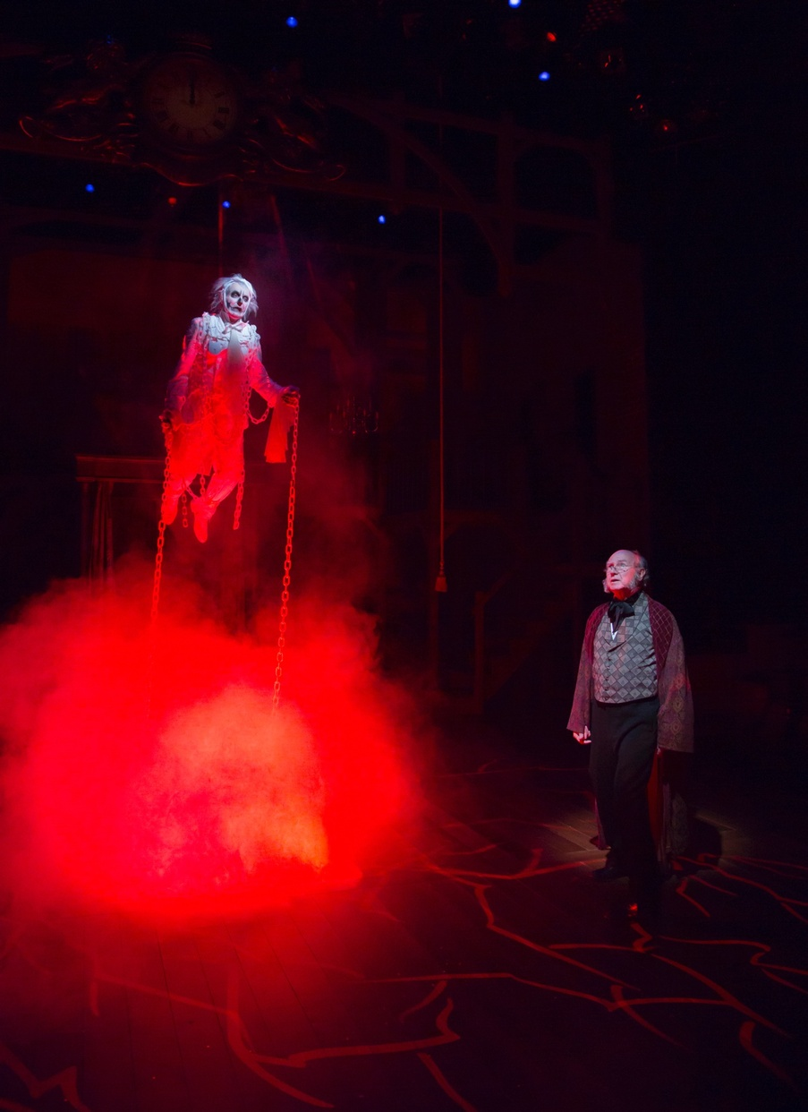 The ghost of Jacob Marley (Noble Shropshire), Scrooge (Bill Raymond) (photo: T. Charles Erickson)
