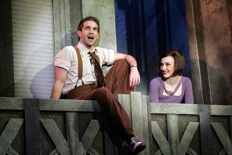 Jimmy (Dan DeLuca), Millie (Taylor Quick) (photo: Diane Sobolewski)