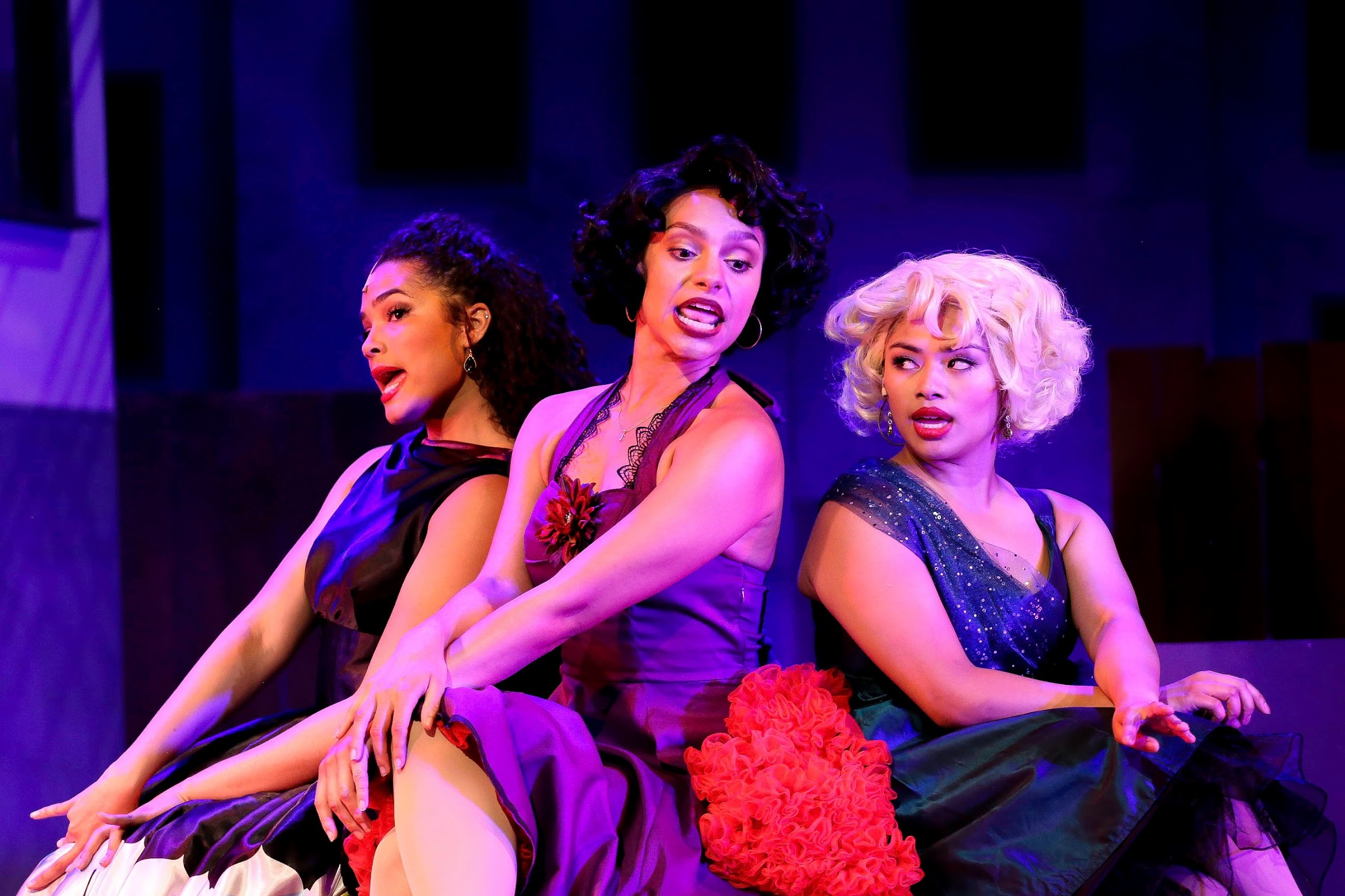 Francisca (Annelise Cepero), Anita (Natalie Madlon), Consuela (Arianne Meneses) (photo: Jonathan Steele)