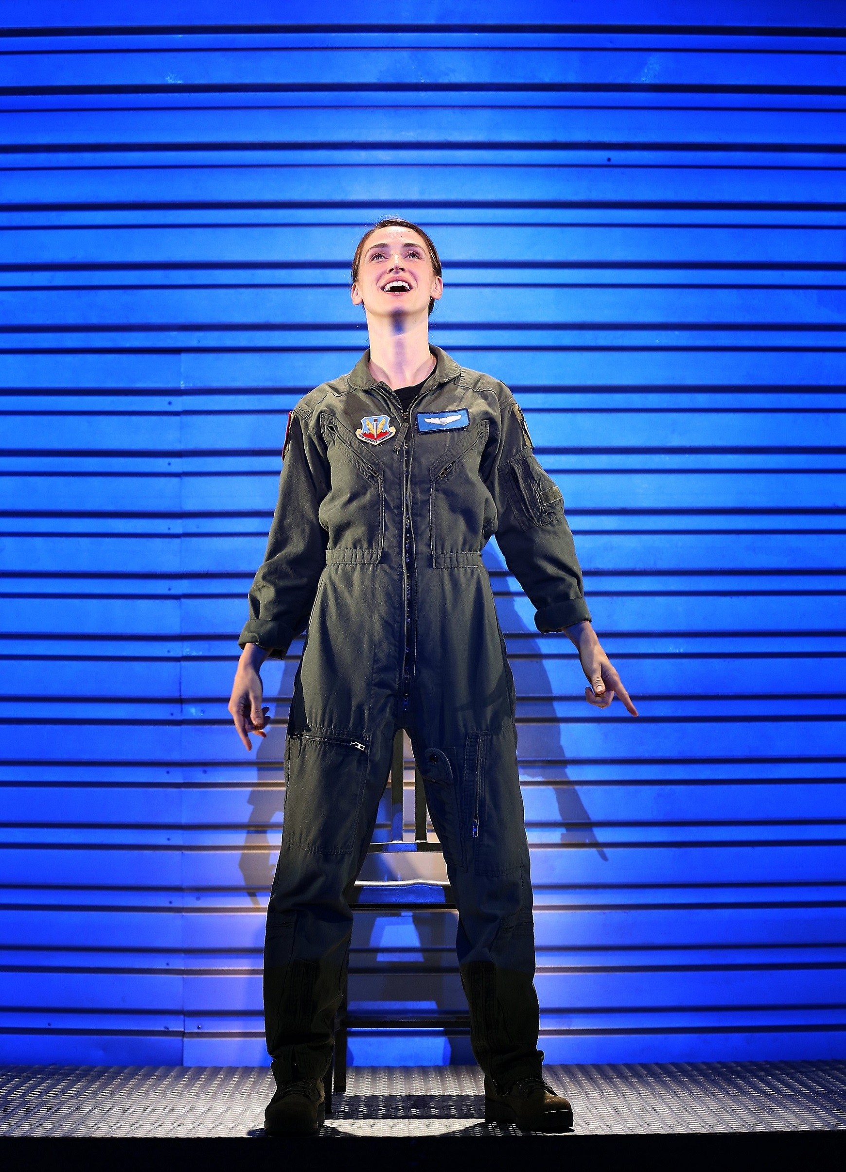 The pilot (Elizabeth Stahlmann) (photo: Carol Rosegg)