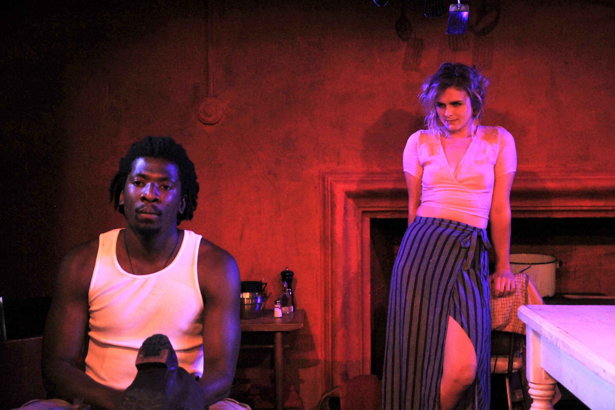 John (James Udom), Julie (Marie Botha) (photo: Yaara Bar)