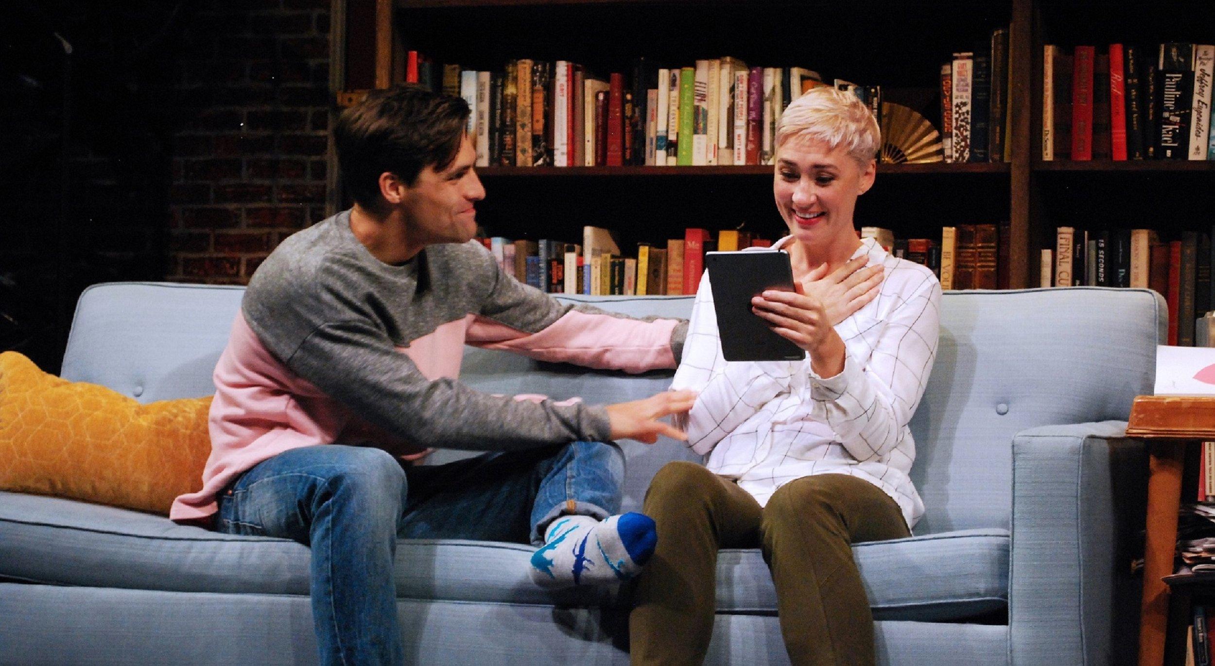 Ethan (Chris Ghaffari), Olivia (Jessica Love)