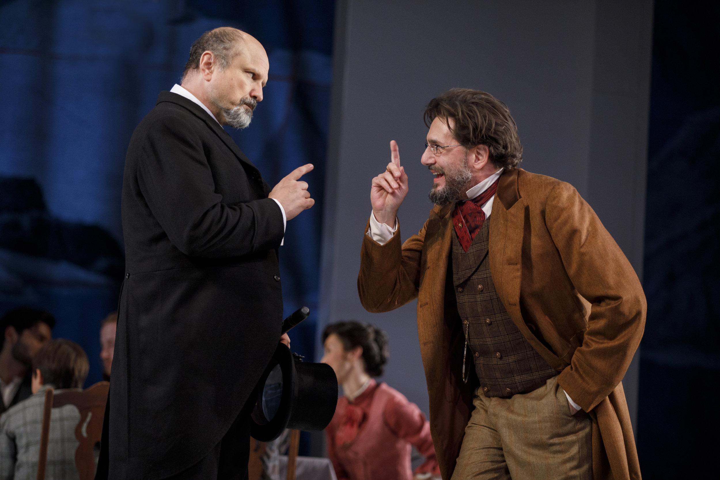 Mayor Peter Stockmann (Enrico Colantoni), Dr. Thomas Stockmann (Reg Rogers)